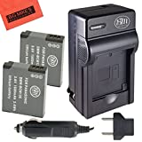BM Premium Pack of 2 DMW-BCM13E Batteries and Battery Charger for Panasonic Lumix DMC-LZ40, DMC-TS5, DMC-ZS30, DMC-ZS35, DMC-ZS40 Digital Camera + More!!