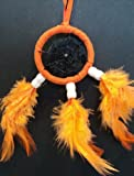 ORANGE DREAMCATCHER CAR WINDOW with sucker pad DREAM CATCHER