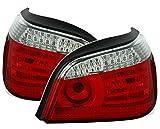 LED R�ckleuchten Set in Klarglas Rot - Wei�