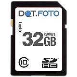 Dot.Foto Extreme SDHC 32Gb Class 10 (20Mb/s) Speicherkarte für Canon EOS 5D Mark III, EOS 5DS, EOS 5DS R, EOS 6D, EOS 60D, EOS 60Da, EOS 7D Mark II, EOS 70D, EOS 100D, EOS 450D, EOS 550D, EOS 600D, EOS 650D, EOS 700D, EOS 750D, EOS 760D , EOS 1100D, EOS 1200D, EOS 8000D / EOS C300 , EOS C300 PL, EOS C500, EOS C500 PL / EOS M, M2, M3