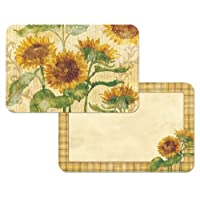 Reflections of the Sunflower Fall Set of 2 Reversible Placemats Counter Art Decofoam