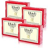 Khadi Natural Rose & Honey Loofah Soap (Sls / Paraben Free) - 100g (Set Of 4)
