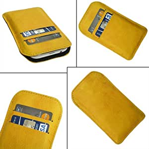 i-KitPit Quality PU Leather Pouch Case Cover For Samsung Galaxy S Duos S7562 (YELLOW)