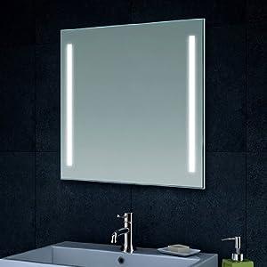 Luxaqua Design Wand Spiegel Badezimmerspiegel LED Beleuchtung mit 420 Lumen MT6060  BaumarktKundenbewertungen