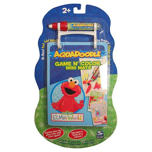Buy Spinmaster Aquadoodle Game N' Color Mini Mats Elmo's World Aqua Doodle