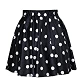 Lantomall Womens Polka Dot Pattern Comfort Short Skirt Stretch Mini Dress