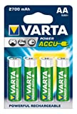 Varta Power Accu 2700 mAh 56766 NiMH AA Batteries - 4-Pack