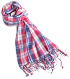 French Connection Men's Crinkled Scarf,Trippy Pink,One Size