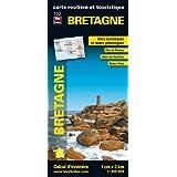 Bretagne, carte r�gionale, routi�re et touristiquepar Blay-Foldex