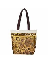 The House Of Tara Old World Shipping Map Print Handbag