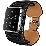 Apple Watch Band,Handmade Leather Replacement Strap Band For IWatch,Adjustable Wristband Accessorries Strap With...