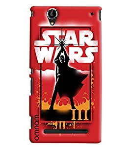 Omnam Star Wars Effect Printed Designer Back Cover Case For Sony Xperia T2 Ultra
