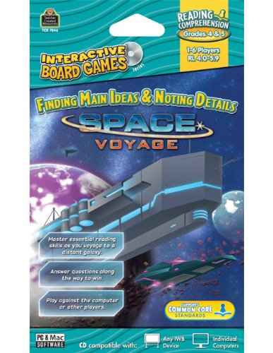 Teacher Created Resources Space Voyage Interactive Board Game Cd (7846)