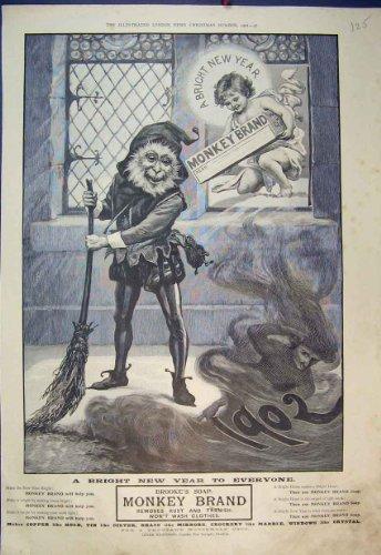 decapant-1902-de-marque-de-singe-de-savon-de-brooke-dannonce-de-noel