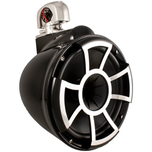 Wet Sounds Revolution Series 10 Inch Hlcd Wakeboard Tower Speakers - Black W/ Swivel Clamp
