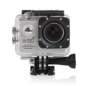 CS720W Wifi 1080P HD Action Kamera 2.0 Zoll LCD Schirm wasserdichte Sport Kamera 12MP DV des Auto DVR Fahrrad Helmkamera (Grau)