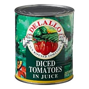 Delallo Tomatoes - Diced In Juice, 28-Ounce (Pack of 12)