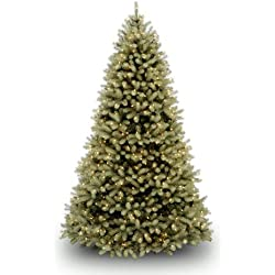 "National Tree 7.5-Feet ""Feel-Real"" Downswept Douglas Fir Tree, Hinged, 750 Clear Lights (PEDD1-312-75)"