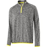 Carbon Heather/Carbon Heather/Bright Yellow, Large : Holloway Adult Force Training Top