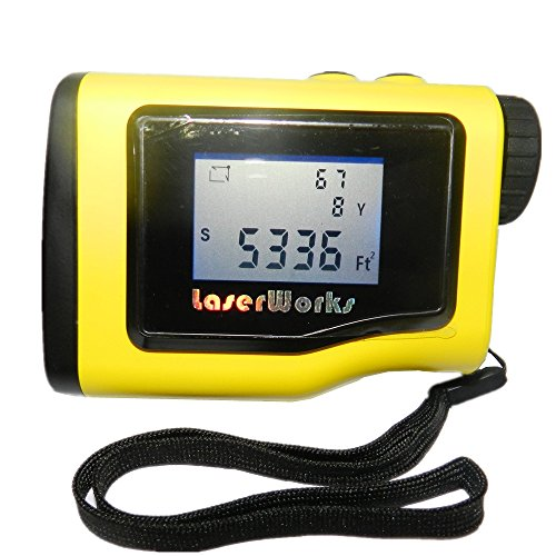 Digital Distance Measuring Devices : Laserworks rangefinder yards y with lcd height
