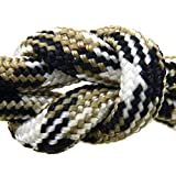 "Paracord - Guaranteed MilSpec C-5040H Compliant, 8-Strand, Type III, Military Survival 550 Parachute Cord. 110 Ft. Hank of DESERT CAMO, Made in the U.S. from 100% Nylon. Includes FREE EBook: ""We Love MilSpec Paracord and So Will You!"" and Your Own Copy of MIL-C-5040H. By Paracord 550 MilSpec (TM)."