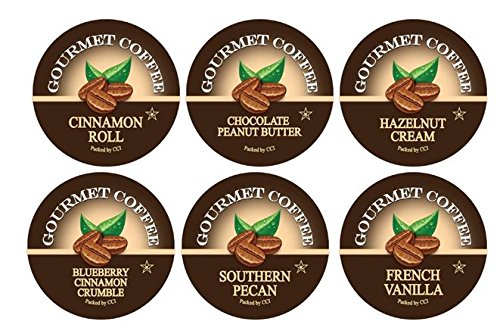 Smart Sips, Flavor Lovers Coffee Variety Sampler Pack- Blueberry Cinnamon Crumble, Cinnamon Roll, Chocolate Peanut Butter, Southern Pecan, French Vanilla, Hazelnut Cream- Single Serve Beverage Cups Compatible with Keurig K-cup Brewers, 24 Ct (Keurig Tim Hortons Hot Chocolate compare prices)