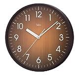 felio(フェリオ) アナログ掛け時計 ウッドソン ブラウン FEW139 BR