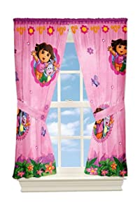 Nickelodeon Dora Fun In The Jungle Microfiber Drapes 82 By 63-inch by Franco Manufacturing Co., Inc.