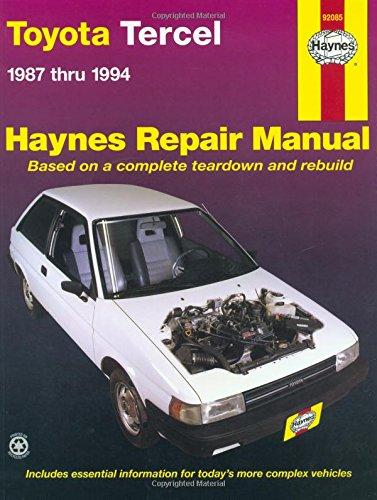 Toyota Tercel: 1987 Thru 1994 (Haynes Repair Manual)