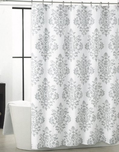 Bed Bath Beyond Blackout Curtains Gray Hookless Shower Curtain