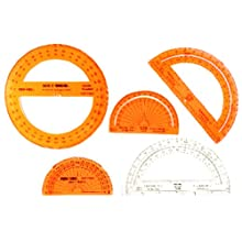 "SAFE-T Protractors 360°, 4"" (Set of 24)"