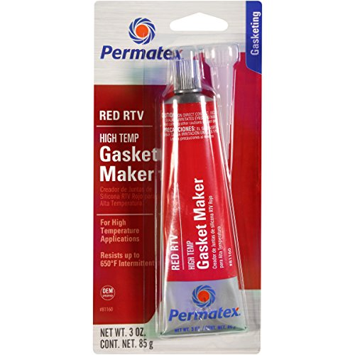 Permatex 81160 High-Temp Red RTV Silicone Gasket, 3 oz.