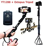 Everything Imported Yunteng YT-1288 Selfie Stick With Octopus Tripod Expendable Camera Shooting Handheld Monopod Tripod Mount Holder for Iphone 6plus 6 5s 5c 5 4s 4 Ipod Etc. (Model YT-1288)