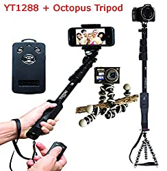 Everything Imported Yunteng Selfie Stick YT1288 and YT188 With Various Combo Octopus Tripod and Telescopic Tripod Combos Bluetooth Shutter Remote Combo and Much More Explore Now (Yunteng YT1288 With Octopus Tripod)