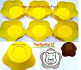 Disney Winnie The Pooh Reusable Silicone Muffin Jello Baking Cup Cupcake Mold Set of 6