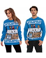 Catch 22 Christmas Xmas Jumper Sweater Mens Ladies Unisex Fairisle Reindeer Classic Retro Vintage Novelty