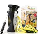 Spiral Slicer Spiralizer Complete Bundle - Best Vegetable Cutter - Zucchini Pasta Noodle Spaghetti Maker