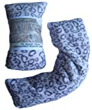 Wheat and Lavender Microwavable Heat Cushion/Warmer/Bag/Pack, for Neck and Body (Light Pink Leopard Double Fleece) Click