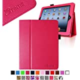 Fintie Folio Case for iPad 4th Generation with Retina Display, the New iPad 3 & iPad 2 Slim Fit Stand Smart Cover with Auto Sleep / Wake Feature - Magenta
