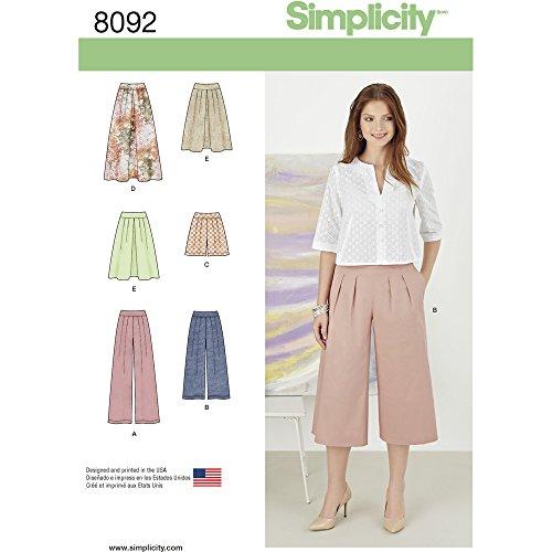 Simplicity-Cartamodelli per gonne, pantaloni e Shorts, Pantalone Culotte da cucito, di carta