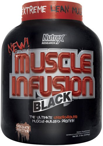 Nutrex Research Muscle Infusion Black 2270 g Chocolate Muscle Building Protein Shake Powder