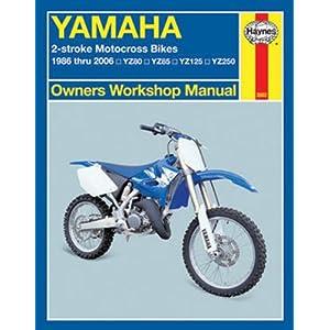 yamaha 2 stroke motorcross bikes haynes repair manual  1986   2006