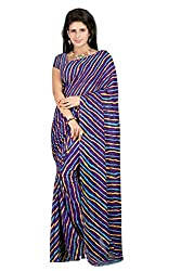 Gazbiyya Women's Faux Georgette Saree (Multicolored)