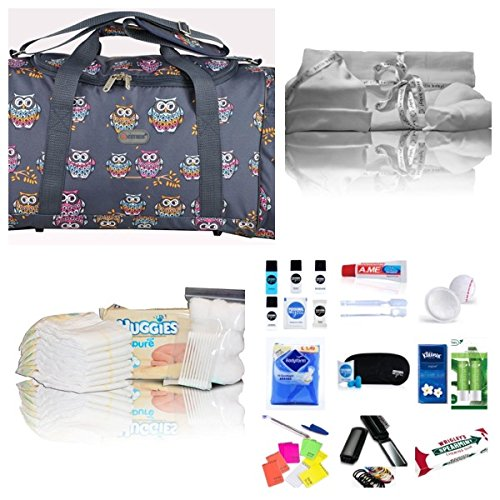 luxury-pre-packed-hospital-bag-maternity-holdall-for-mum-baby-navy-owls-free-next-working-day-delive