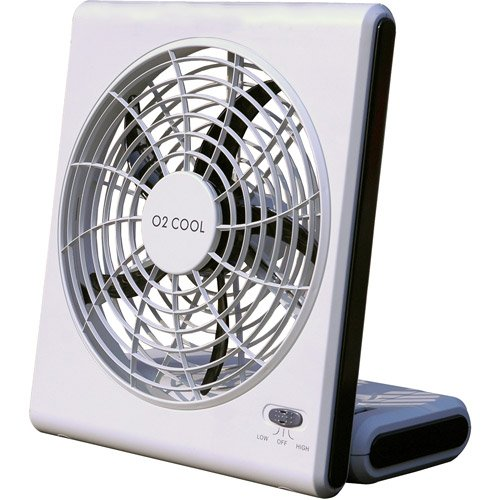 """O2 Cool 8"""" Battery Or Electric Portable Fan"""