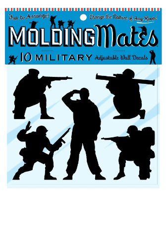 Molding Mates Military Action Men 10 Molding Mates Home Decor Peel And Stick Vinyl Wall Decal Stickers