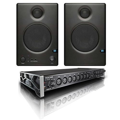 Tascam US-16x08 16x8 Channel USB Audio Interface - Bundle with PreSonus Ceres C3.5BT Two-Way 3.5