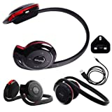 Wayzon BH503 Portable Bluetooth Wireless / Cordless Stereo Sports Headphones Headset Hands Free Earpiece Earphone Headband + Mains Charger Adaptor iN BONUS For Dell Streak 7 Wi-Fi / Pro D43 / Venue Pro / XCD28 / XCD35