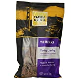 PACIFIC GOLD PREMIUM TERIYAKI TURKEY JERKY Snack Pack- Pack of 2 NET WT 16 OZ (453.6 g):Premium Jerky made from  Turkey Breast. 97 % Fat Free, no preservatives, no Artificial Ingredients. Natural smoke flavor added.US inspected for wholesom...