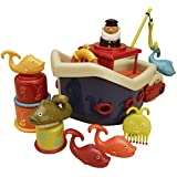 Beby Bath time Pirate Ship Toddlers Tub Toy for kids with Water Cannon and Boat Scoopfor¡¾sand and water playsets¡¿
